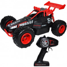 Masinuta cu telecomanda, acumulator reincarcabil si roti din cauciuc Buggy Slayer 28x18,5x15,5 cm Rosie