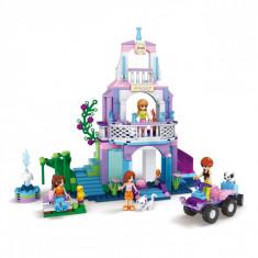 Set cuburi Lego, actual investing, model castel, 371 piese + 4 figurine