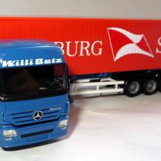 Herpa ( AWM ) Mercedes Actros Willi Betz 4100 container Hamburg Sud  1:87