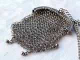 MEDALION argint PORTMONEU cu ZALE exceptional FRANTA 1900 superb pe Lant argint