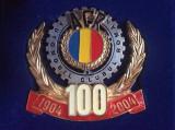 Plachetă aniversară - Insignă Centenarul Automobil Club Român  - 100 ani ACR