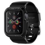"""Cumpara ieftin Husa Antisoc Premium Spigen Rugged Armor """"PRO"""" pentru Apple Watch Seriile 6/5/4/SE (40mm), Protectie la Standarde Militare, Negru"""
