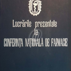 Lucrarile prezentate la Conferinta Nationala de Farmacie