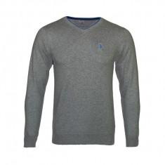 Bluza bumbac barbati U.S. Pollo ASSN, gri/albastru, marimea 2XL