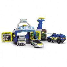 Pista de masini Copii Play SWAT Station cu 3 masini de politie si drona