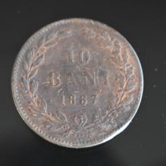 10 Bani 1867 Watt & Co. - Moneda romaneasca Carol I