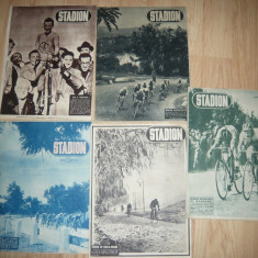 Set 5 Reviste Stadion si Sport anii '48 ,49 - Tematica principala Ciclism