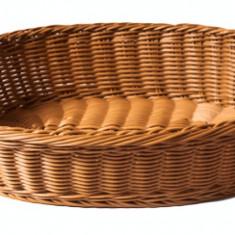 Cos paine, fructe, legume oval servire rezistent la apa, 41 x 31 x 9 cm culoare cafea, 014022