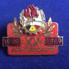 INSIGNA PIONIERI -  PIONIER - a XX-a ANIVERSARE 1949 - 1969