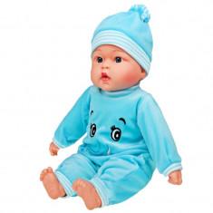 Papusa interactiva care canta si vorbeste pentru fetite Carero Beatka 26784, Albastru