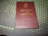 certificat foarte rar utc absolvent academia stefan gheorghiu an 1981 c acte