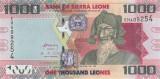 SIERRA LEONE █ bancnota █ 1000 Leones █ 2013 █ P-30b █ UNC █ necirculata