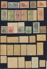 1919 Romania ocupatia in Ungaria emisiunea Debretin II lot 17 timbre neuzate foto