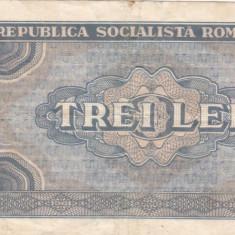 ROMANIA RSR 3 LEI 1966 VF