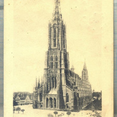 AD 353 C. P. VECHE -MUNSTER IN ULM - GRUSS AUS ULM-GERMANIA -CIRC.1907 BUCURESTI