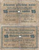 1915, 15 Kapeikas (LAT-20) - Mitau/Jelgava (Letonia)