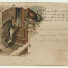 Cp comica - ed.A.Maier Bucuresti, 1900