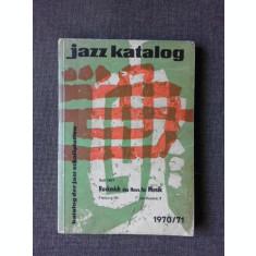 JAZZ KATALOG1970/71, TEXT IN LIMBA GERMANA