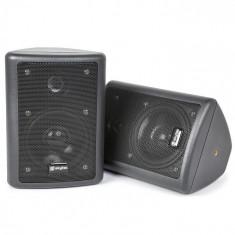 Skytec 2-way difuzoare stereo pereche 75W max. incl. material de montare negru