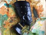 Vintage / Design - Veche piesa deosebita din ipsos pentru perete  / Nefertiti !