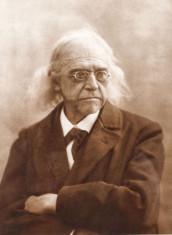 Fotografie originala ilustrandu-l pe istoricul Theodor Mommsen, cca. 1890 foto