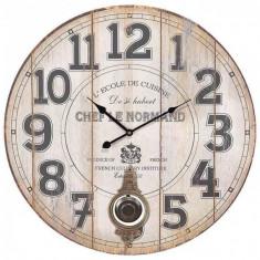 Ceas de perete lemn cu pendul Normand 58 cm