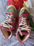Sneakers kawasaki de dama, originali, purtati de 2 ori, 37, Multicolor