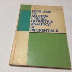 Probleme de algebra liniara, geometrie analitica si diferentiala C. Udriste
