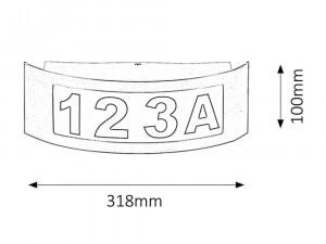 Numar pentru casa iluminat INNSBRUCK Rabalux, 8749, IP44, 14 W