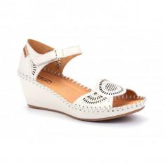 Sandale albe platforma PIKOLINOS piele naturala 943-1859