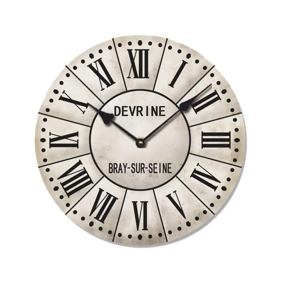 Ceas de perete din lemn, ClassGifts Devrine, cifre arabe, 33 cm,Cod Produs:2110
