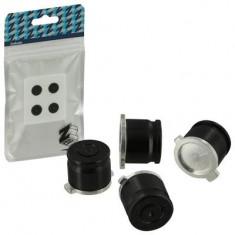 Zedlabz Alloy Metal Bullet Buttons Jet Black 4 Pcs Ps4