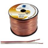 Cumpara ieftin Cablu difuzor Cabletech, cupru, 0.75 mm, rola 100 m, transparent