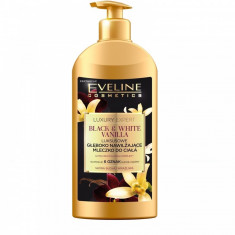 Lotiune de corp Eveline Cosmetics Luxury Expert Black & White Vanilla 350 ml