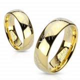 Inel auriu din oţel, litere din Stăpânul Inelelor - Marime inel: 58