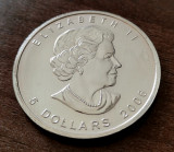 CANADA - 5 Dolari 2006 Dollars - Maple Leaf - argint 31.1 gr. - 999/1000