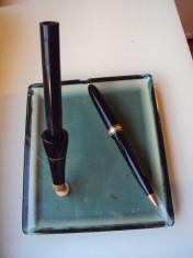 Stilou  cu   penita   de  aur   si pix OMAS foto