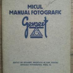 Micul manual fotografic Gevaert// perioada interbelica