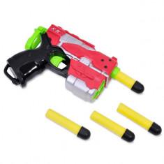 Arma de jucarie pentru copii, model lansator tip blaster, 13x4x10 cm, multicolor