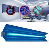 Cumpara ieftin Lampa bactericida orientabila UVC 30W, cu reflector, rotire 140 grade, tub quartz, fixare perete