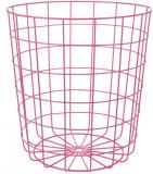 Cos depozitare metallic 32 x 34 5 cm roz