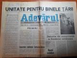 Adevarul 28 decembrie 1989-unitate pt binele tarii, revolutia romana