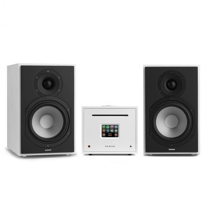 Numan Unison Reference 802 Edition, receiver, amplificator, difuzoare, culoare albă