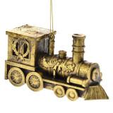 Set 2 ornamente brad Trenulet Vintage Gold