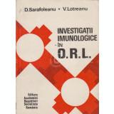Investigatii imunologice in ORL (Ed. Academiei RSR)