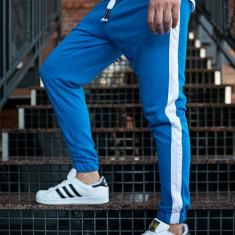 Pantaloni trening bărbați albastru Bolf 11120