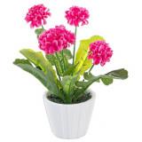 Dalia roz artificiala in ghiveci 10 si 5 cm x 10 si 5 cm x 24h