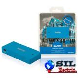 Cititor de card USB Curacao, albastru, Sweex