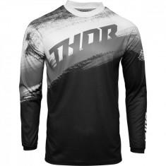 Tricou motocross Thor Sector Vapor culoare Negru/Alb marime L Cod Produs: MX_NEW 29106121PE
