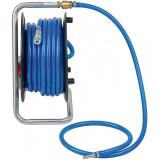 Furtun cu tambur pentru aer comprimat Brennenstuhl, 20 m, 9/15 mm, 15 bar, textil, Albastru